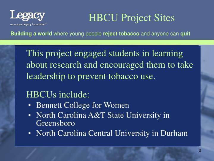 HBCU Project Sites