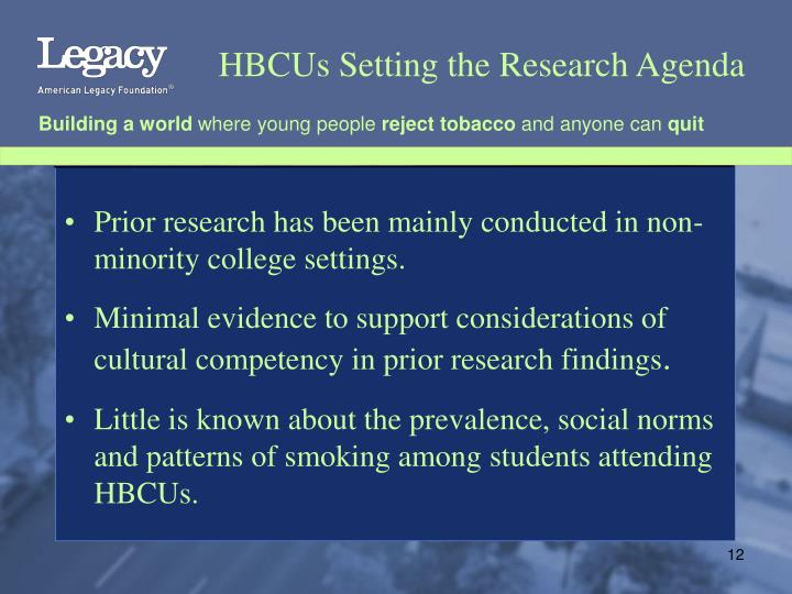 HBCUs Setting the Research Agenda