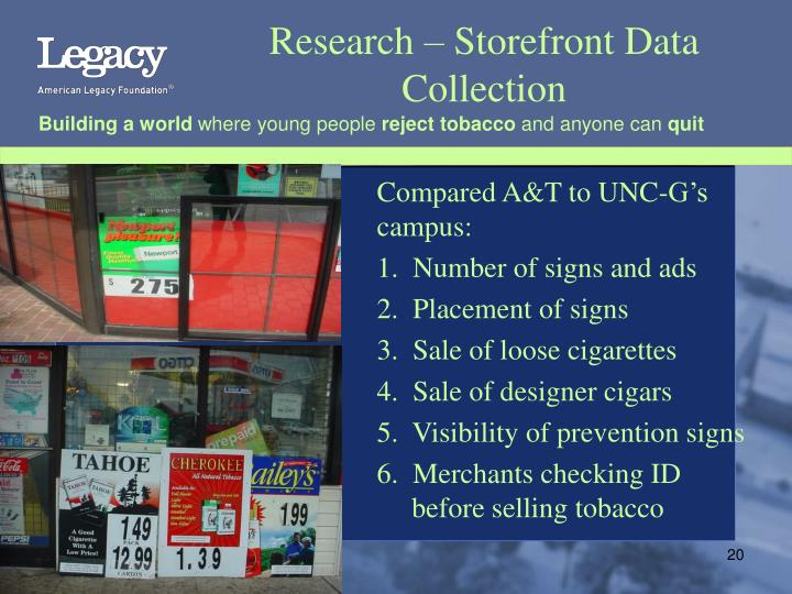 Research – Storefront Data Collection