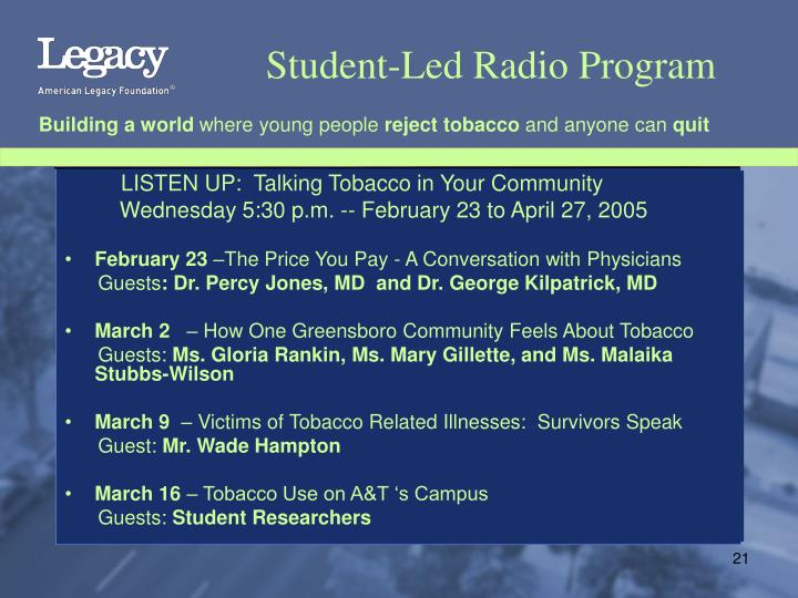 Student-Led Radio Program
