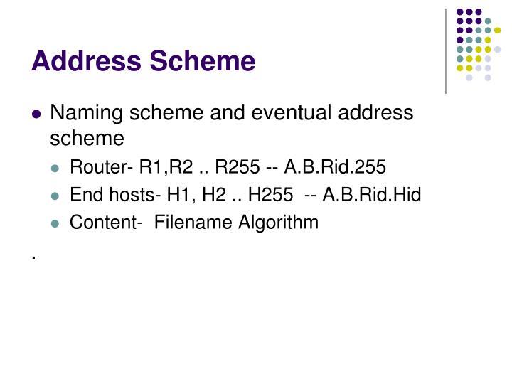 Address Scheme