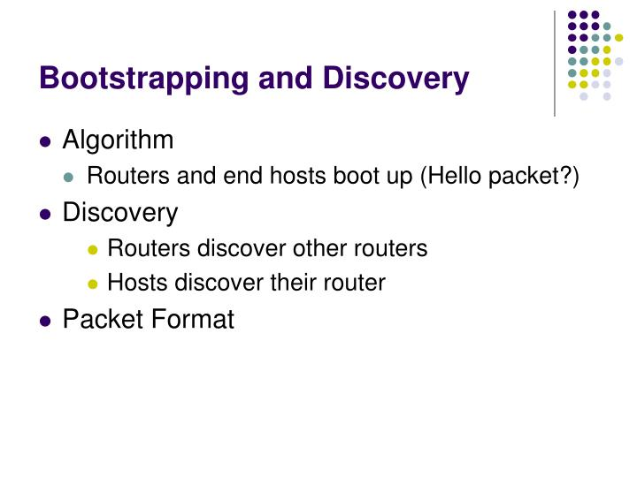 Bootstrapping and Discovery