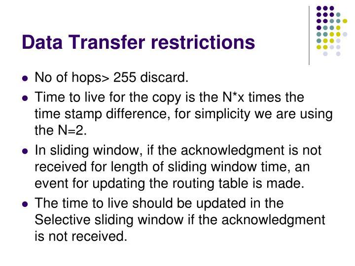 Data Transfer restrictions