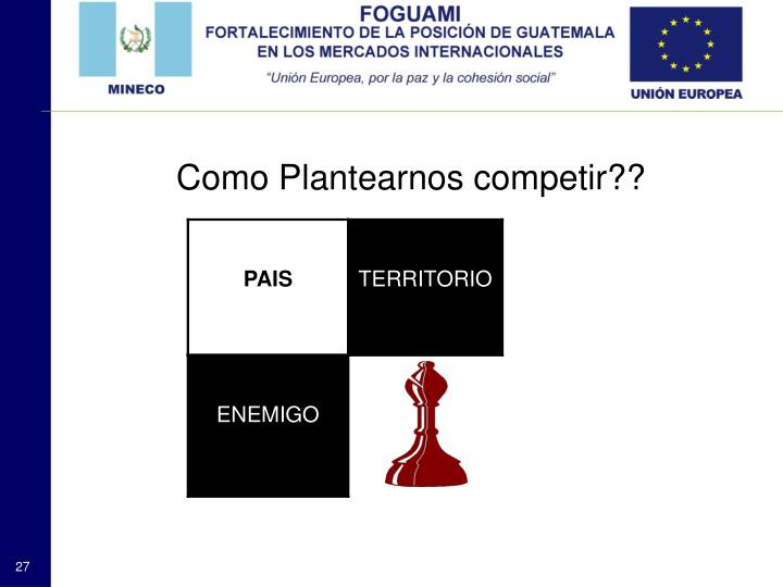 Como Plantearnos competir??