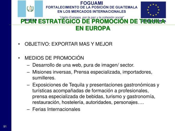 PLAN ESTRATÉGICO DE PROMOCIÓN DE TEQUILA EN EUROPA