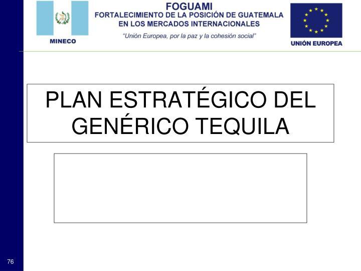 PLAN ESTRATÉGICO DEL GENÉRICO TEQUILA
