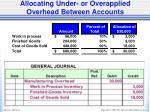 allocating under or overapplied overhead between accounts2