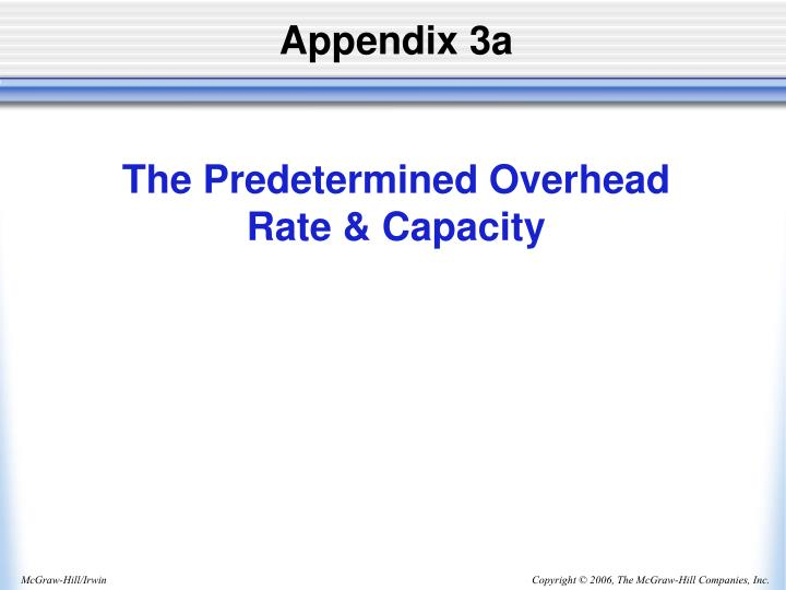 Appendix 3a