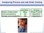 comparing process and job order costing