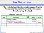 cost flows labor