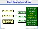 direct manufacturing costs1