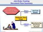job order costing document flow summary3