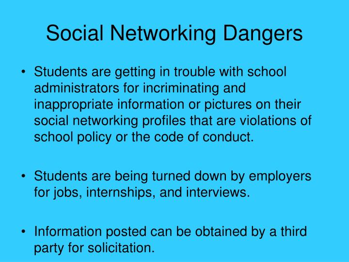 Social Networking Dangers