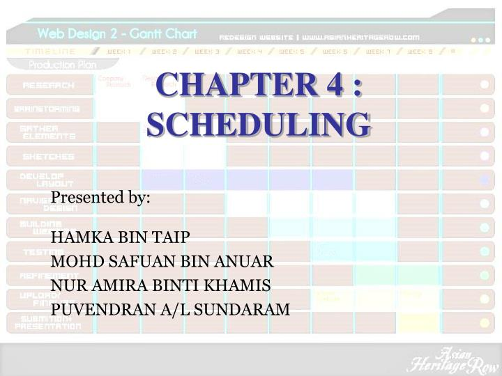 Chapter 4 scheduling