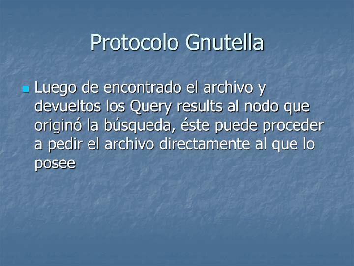 Protocolo Gnutella