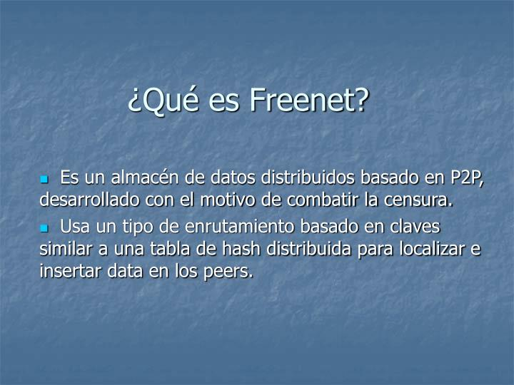 Qu es Freenet?