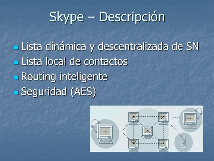 Skype  Descripcin