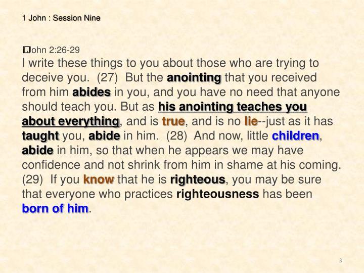 1 John : Session Nine