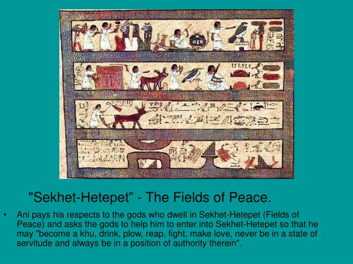 """Sekhet-Hetepet"" - The Fields of Peace."