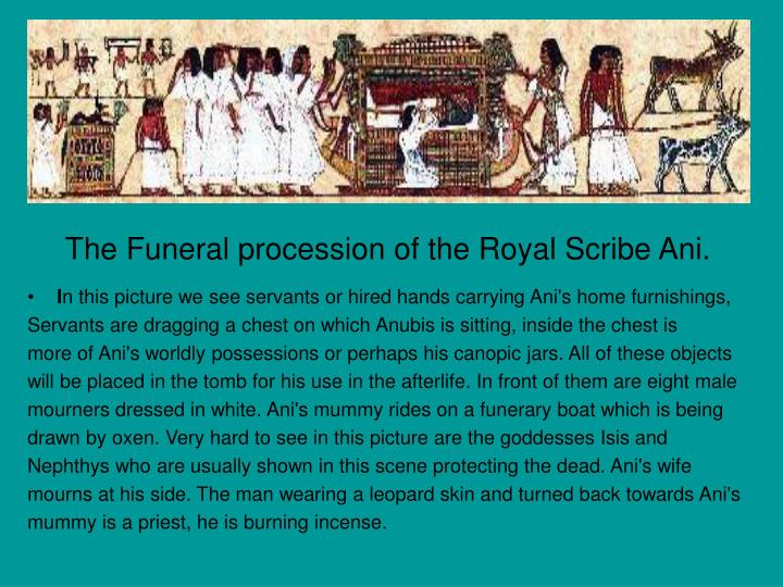 The Funeral procession of the Royal Scribe Ani.