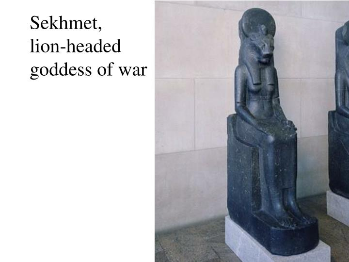 Sekhmet lion headed goddess of war