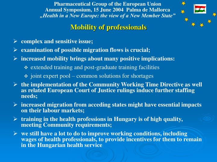Mobility of professionals
