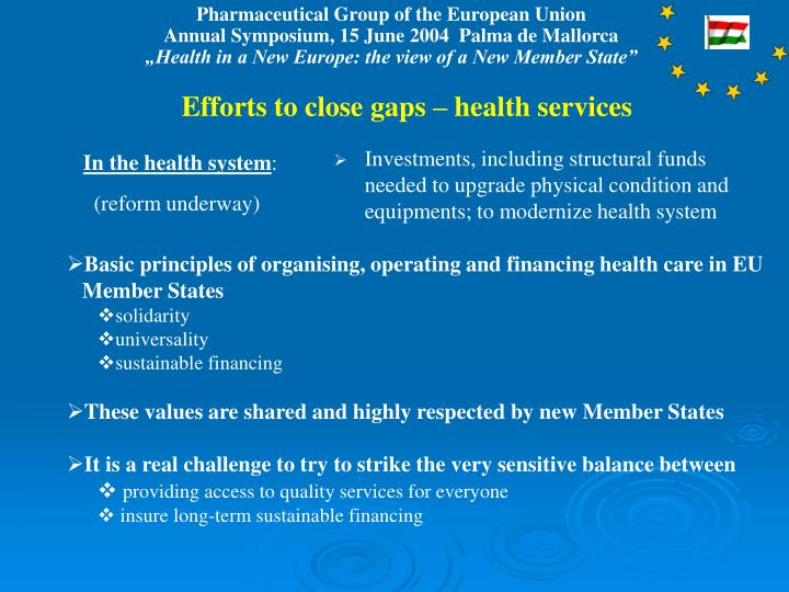 Efforts to close gaps – health services