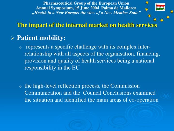 The impact of the internal market on health services