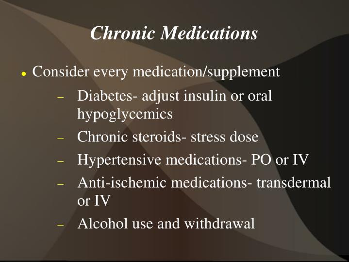 Chronic Medications