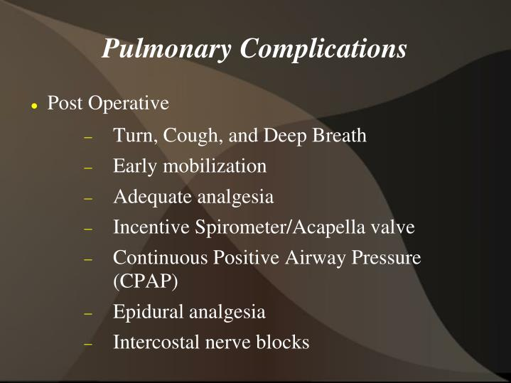 Pulmonary Complications