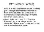 21 st century farming