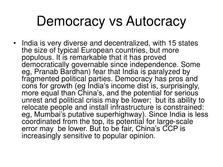Democracy vs Autocracy