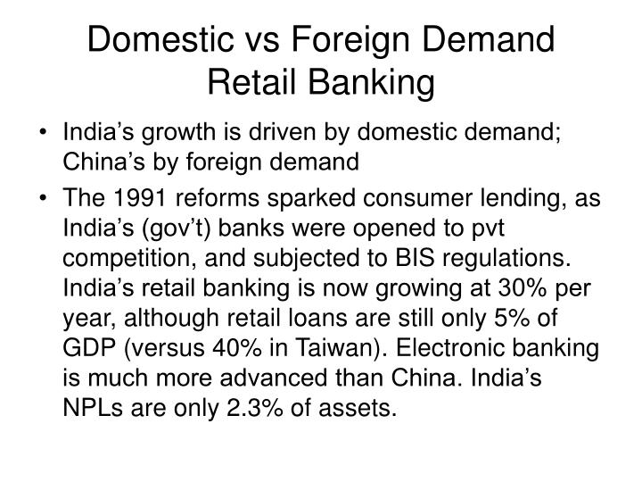 Domestic vs Foreign Demand