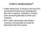 india s weaknesses
