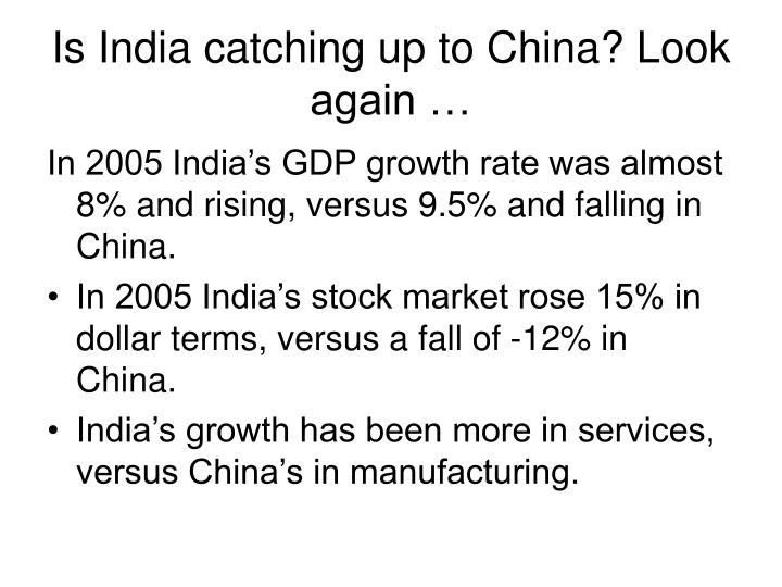 Is india catching up to china look again