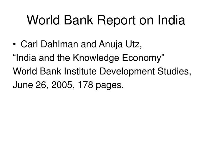 World Bank Report on India