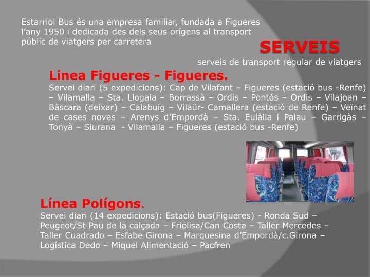 serveis de transport regular de viatgers