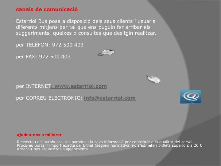 canals de comunicació