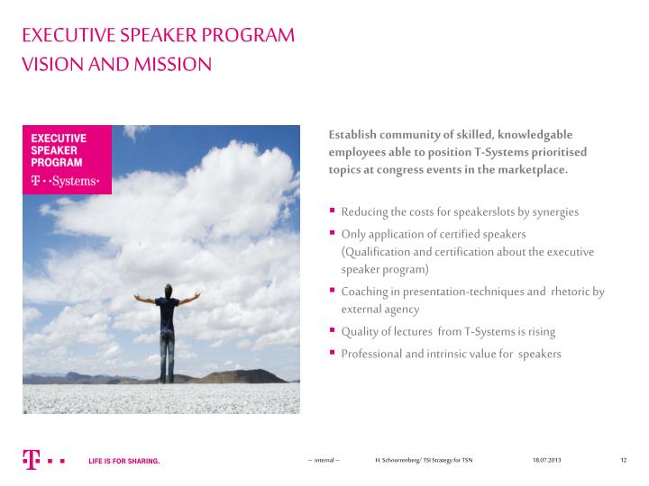 EXECUTIVE SPEAKER PROGRAM