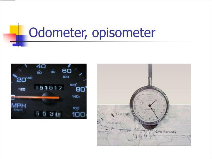 Odometer, opisometer