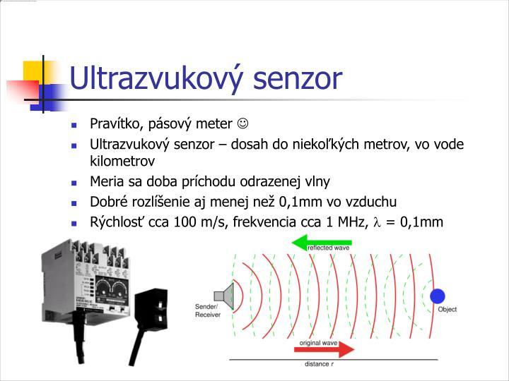 Ultrazvukový senzor