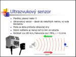ultrazvukov senzor