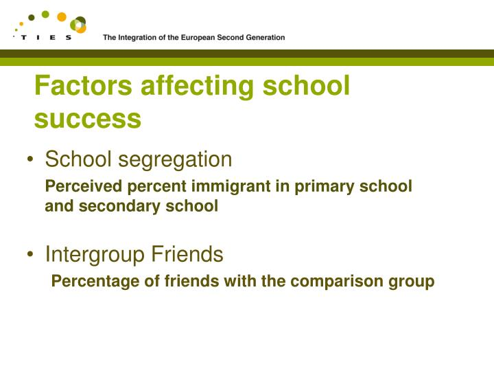 Factors affecting school success