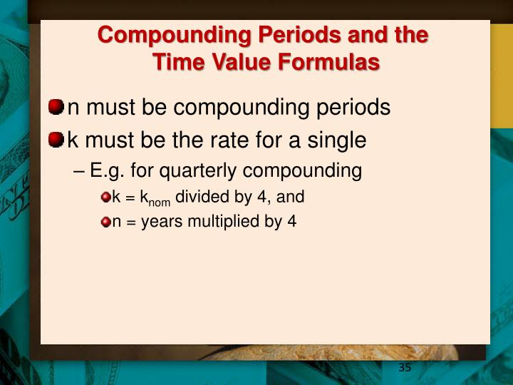 Compounding Periods and the