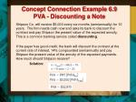 concept connection example 6 9 pva discounting a note