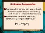 continuous compounding