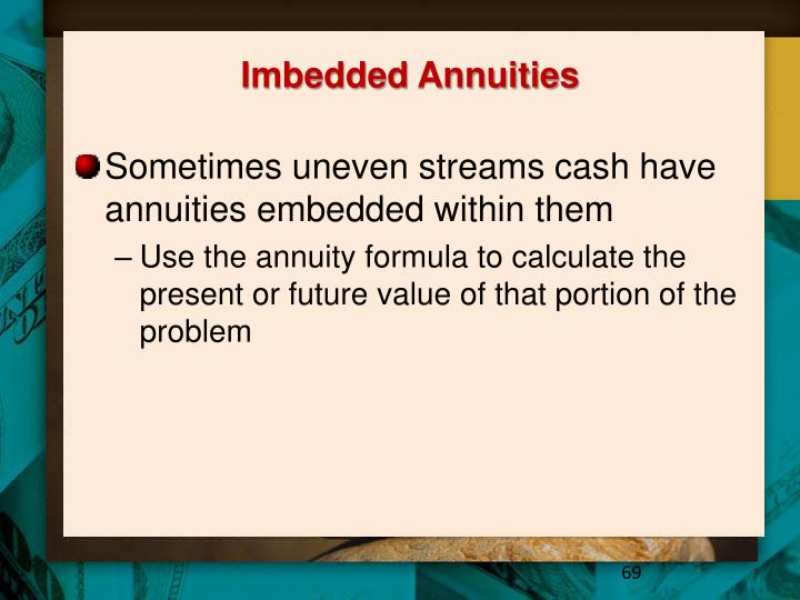 Imbedded Annuities