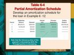 table 6 4 partial amortization schedule