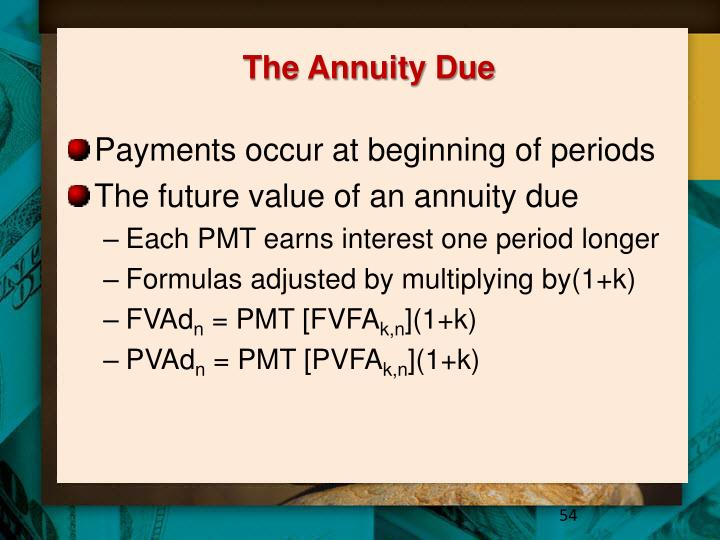 The Annuity Due