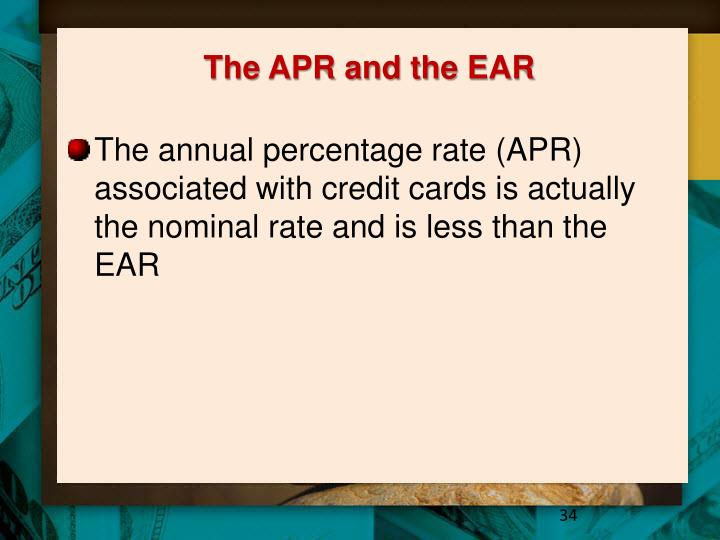 The APR and the EAR